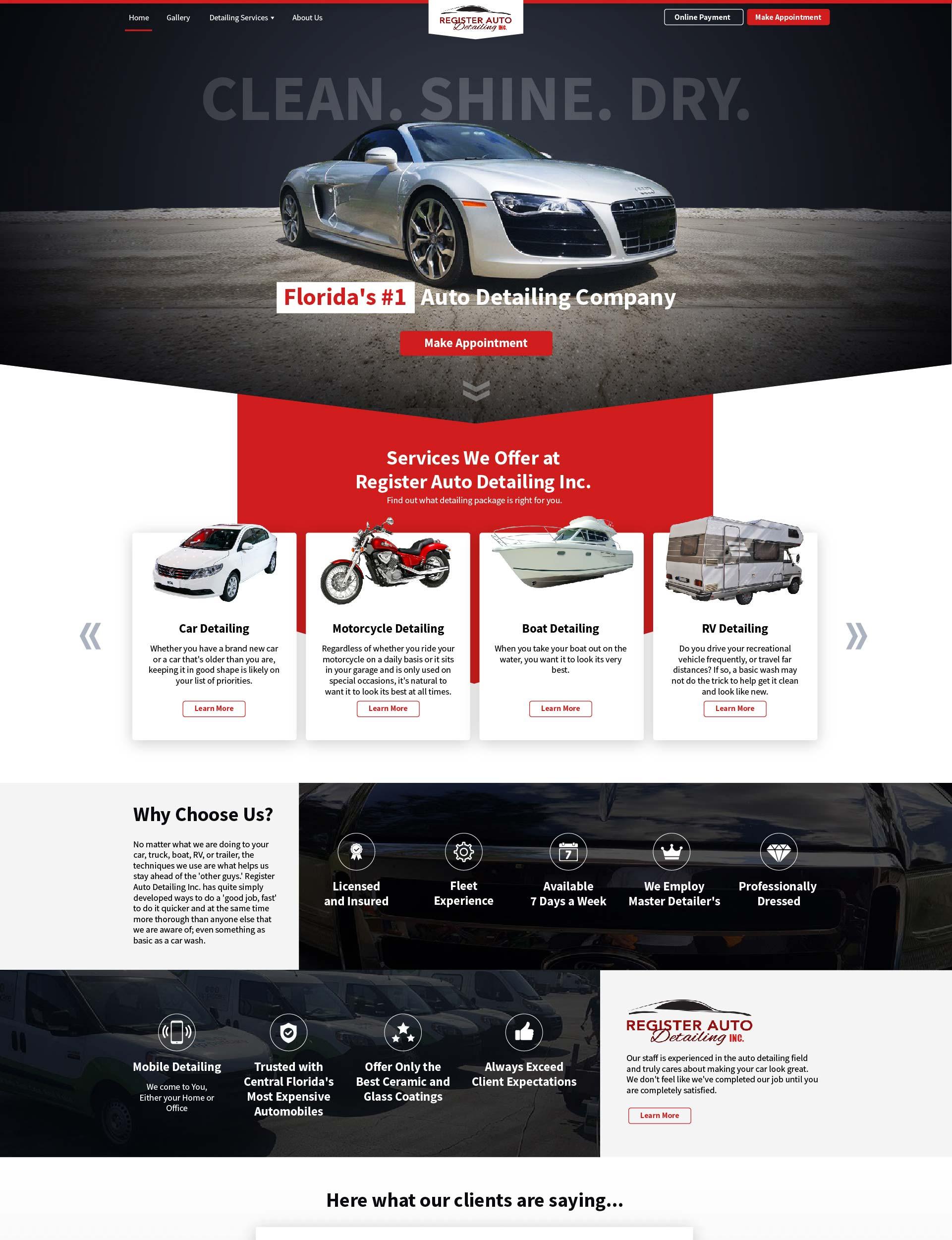 Register Auto Detailing Mockup RankFox Designs redesign